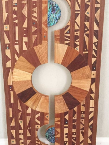 DIMENSIONAL PORTAL original wood hanging wall art by Dagmar Maini Brisbane