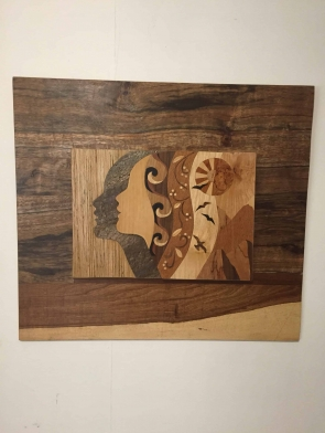Damar Maini orginal wood art wall hanging Brisbane