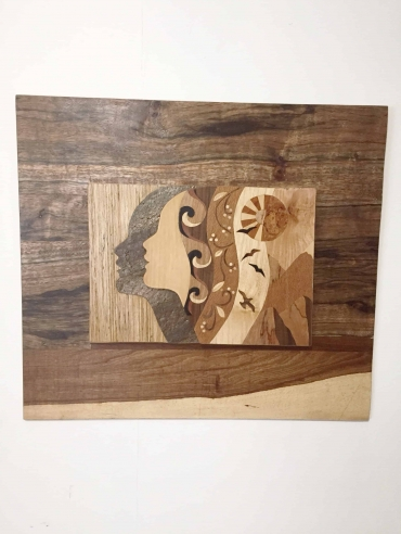 AWAKEINING Dagmar Maini original wood art wall hanging Brisbane