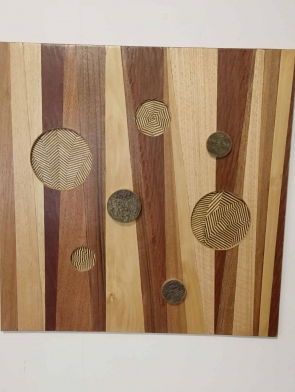 Originality wood wall art by Dagmar Maini Brisbane
