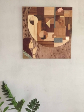 Power of Prayer original wood hanging wall art by Dagmar Maini Brisbane