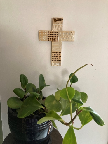 small wall hanging carved cross 2 Dagmar Maini Brisbane