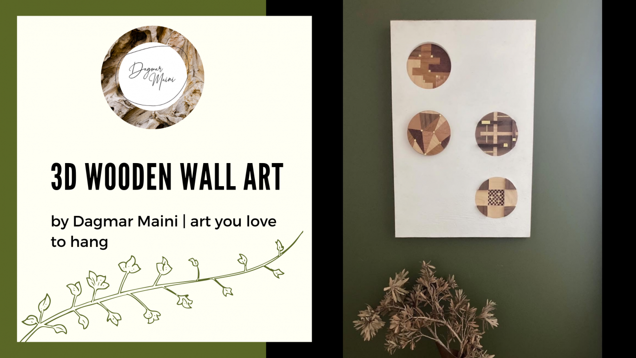 Original 3D Wooden Wall Art by Dagmar Maini Brisbane Queensland
